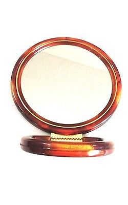 Primary image for Faux Tortoise Double Sided Vanity Mirror Dual Magnify/Regular Brown Gold