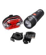 New Cycling Bike Bicycle Front 5 LED Head Light 9 LED Back Rear Tail Fla... - $5.89