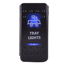 12V 20A Bar Carling Bar Rocker Switch Blue LED Tray Lighted Car Boat Truck Sales - $5.53