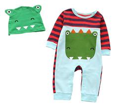 StylesILove Cartoon Animal Baby Boy Cotton Long Sleeve Romper with Hat 2... - $18.99