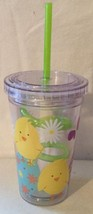 CHICKS 12 Oz Acrylic Eco Cup W/ Swirly Straw New - Great For Easter - $7.94