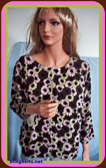 Primary image for NWT  PL SAG HARBOR  BROWN PINK BEIGE BUTTON DOWN SWEATER CARTIGAN SHIRT TOP $48