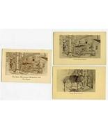 2 John Woolman Memorial Postcards & Tea Room Brochure Mount Holly New Je... - $37.68