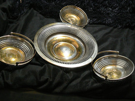 Vintage Sheffiell Silverplate Bowls Baskets - $34.64