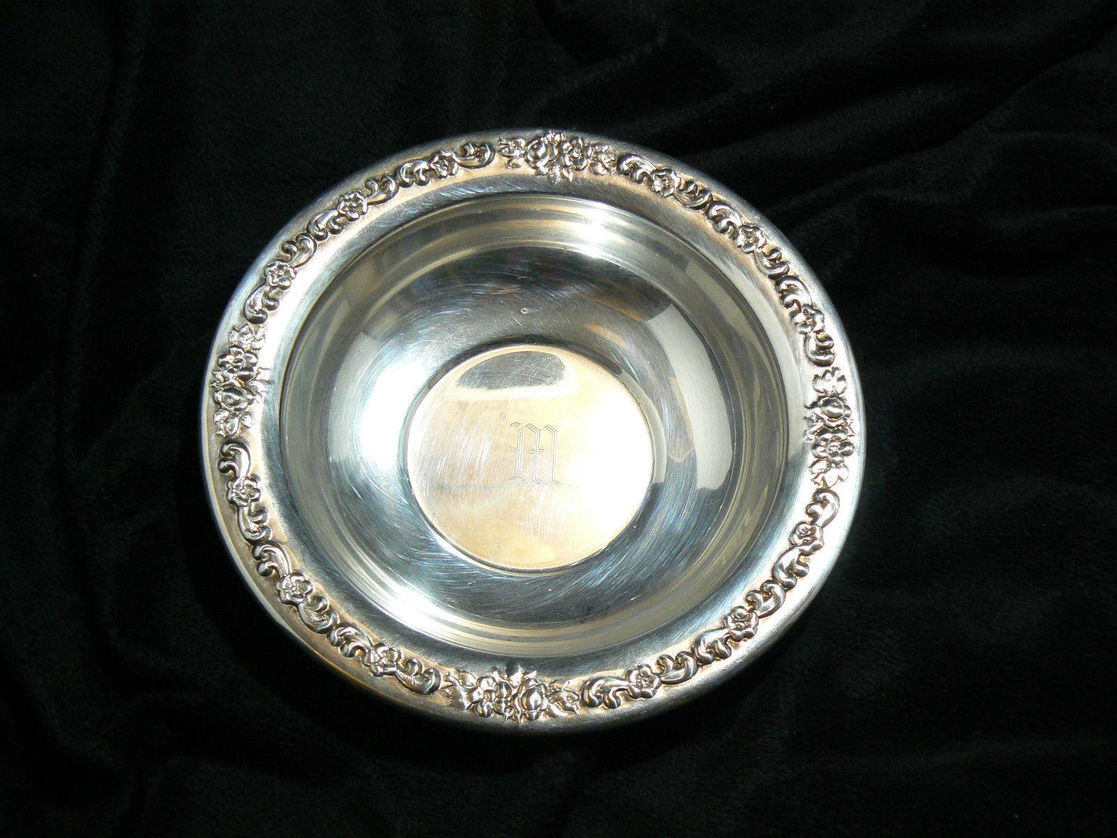 Vintage Sheridan Silverplate Round Ornate Pattern on Rim Small Bowl
