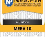 Nordic Pure 16x25x5HM10+C-2 Honeywell Replacement MERV 10 Plus Carbon, Qty 2