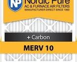 Nordic Pure 20x25x5HM10+C-2 Honeywell Replacement MERV 10 Plus Carbon, Qty 2