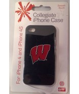 """Wisconsin Badgers """"W"""" iPhone 4 & 4S Case / Cover  NEW IN PACKAGE - GRAD ... - $14.94"""