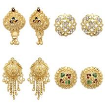 Indian 18k Gold Plated Stud Earrings Variations Jhumki Jhumka Fashion Je... - $7.80