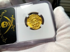 "SPAIN 2 ESCUDOS 1622 ""DATED"" YEAR OF ATOCHA NGC 58 PIRATE GOLD COINS TRE... - $2,950.00"