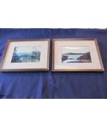 Pair Vintage Framed Scenic Lake Photographs, J.Assenheim, 37 New Street,... - $18.69