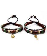 His & Hers Lock and Key Couple Bracelet Lovers Friendship Bracelet  - $12.50
