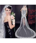 1 Tier Cathedral Length Bridal Veil,Wedding Veils,Lace Bridal Veil, Long... - $13.50
