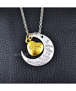 I Love You To The Moon and Back Mom Pendant Necklace Mother's Day - $5.99