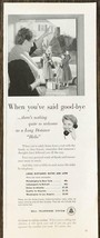 1954 Bell Telephone System PRINT AD When You've Said Goodbye Long Distan... - $10.10
