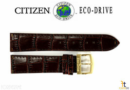 Citizen Eco-Drive E101M-S015588 20mm Brown Leather Watch Band Strap - $75.11