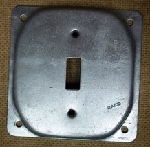 Raco Switch Cover 4in Square Steel - $5.22