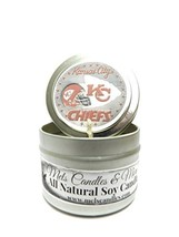 KC Chiefs (Pizza Aroma) 4oz Hand Made Soy Candle Tin - Approximate Burn ... - €5,04 EUR