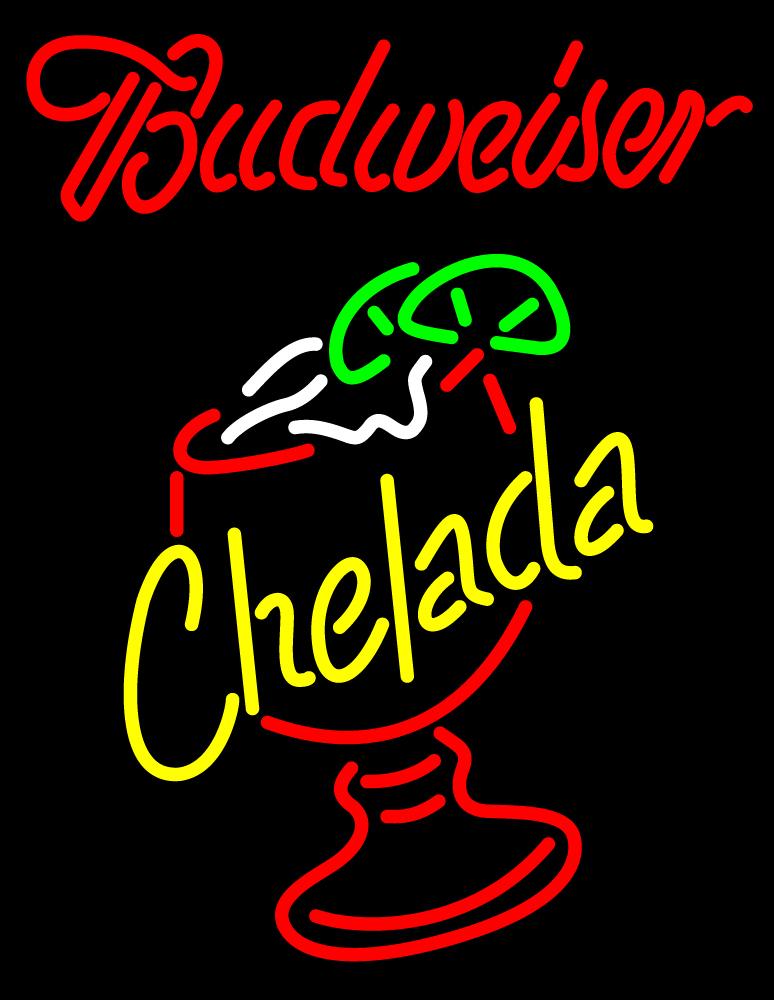 Budweiser Red Chelada Neon Sign - Neon