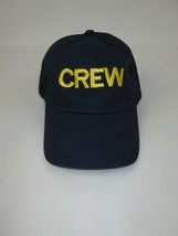 Men's CREW Mesh Back Trucker Hat Cap Navy Blue Gold Dorfman Pacific Co  - $32.62