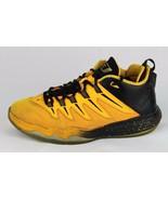 Nike Air Jordan youth kids yellow dragon black gold basketball shoes size 6 - $31.95