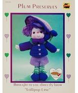 Dumplin Designs Plum Preserves Crochet Pattern Leaflet CDC 406 1984 - $6.25