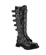 "DEMONIA Reaper-30 1 1/2"" Heel Boots - Black Leather - $127.95"
