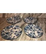 """Royal Norfolk 10 1/2"""" Dinner Plates Set Of 4 Blue/White Flower Print-NEW... - $48.88"""