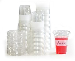 Tovla Clear Plastic 9 oz. Drinking Cups with Lids (100-Count Set) - $22.23