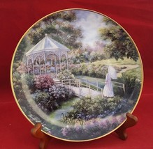 "Garden Gazebo Plate Violet L.Schwenig Cottage decorative 8 1/8""  Plate MINT - $9.95"