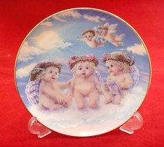 """Angels decorative plate flying lesson Hamilton collection 6""""  by Kristin... - $6.43"""
