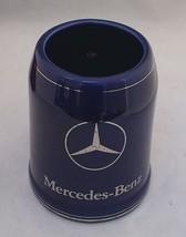 MERCEDES-BENZ GOLD LOGO & STRIPES OVER COBALT BLUE CERAMIC BEER STAINS 5... - $14.84