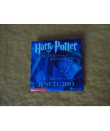 Harry Potter & the Order of the Phoenix~June 2003~J.K. Rowling~2 inch sq... - $18.95
