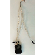 Beaded Wire Plant Hanger with LED Lights - $18.00