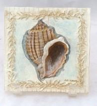 "Kate McRostie 2 Shells design 5 1/2"" tiles Whit... - $7.91"