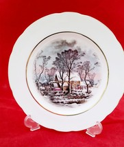 "OLD GRIST MILL 8"" DECORATIVE PLATE GOLD COLOR RIM MINT CONDITION AVON AWARD - $7.91"