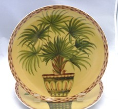 """Formalities Palm Trees Baum Bros  Collection WAIKIKI  8"""" Porcelain plate - $7.91"""