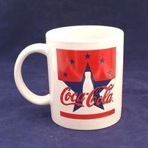 Coca Cola stars & stripes red white blue  11 Oz. Mug by Gibson - $5.93