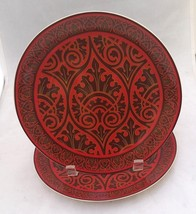 """Harry and David 2 replacement red Venetian scroll 8 ½"""" porcelain rare 20... - $14.00"""
