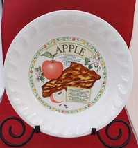 """Himark baking Golden Pie Collection white APPLE Pie 10"""" with Recipe Plate - €9,26 EUR"""