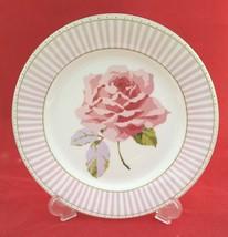 Laura Ashley Home Celia Semi-Bone China Dessert Plate White Pink Lilac G... - $7.91