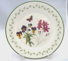"""Gibson RARE everyday pansy butterfly green rim 7 5/8"""" plate Replacement /decor - $5.95"""