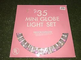 New Set Of 35 Easter Pastel Small Globe Lights - $19.79
