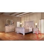 Rustic Penelope King Bedroom Set Solid Wood Western Style - $3,662.01