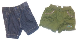 The Children's Place Infant Girls Shorts 2 Choices in Various Sizes NWT - $6.49