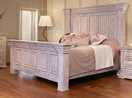 Rustic Penelope King Bed Solid Wood Western Style - $1,880.01