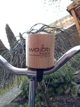"Hand made wood bicycle handlebar cup holder ""wood koozie"" - $35.00"