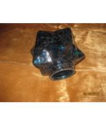 Vintage Blue Glass Star lamp shade  - $24.00