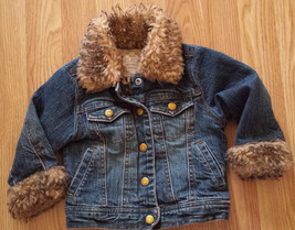 Girl's Size 18 M Months The Children's Place Denim Blue Jean Jacket W/ F... - $20.00