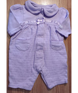 Girl's Size 3 M 0-3 Months One Piece Small Wonders Purple Floral & Heart... - $9.00